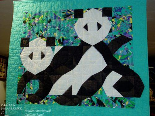 Geboorte quilt voor Alemke 1991